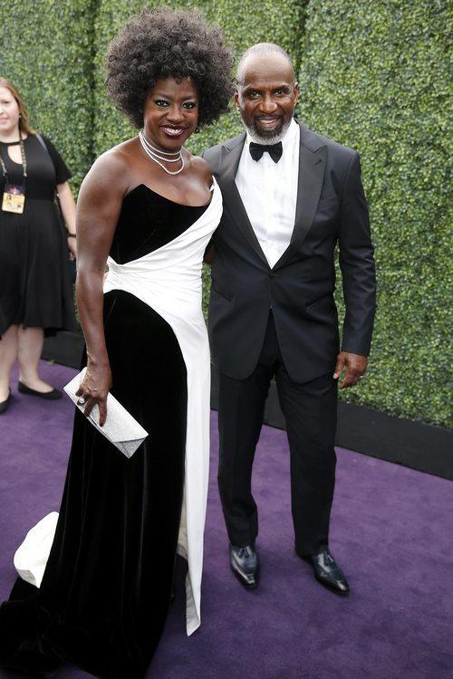 Viola Davis y Julius Tennon, en la alfombra roja de los Emmy 2019