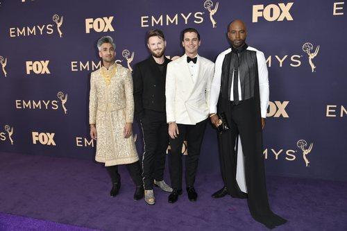El reparto de 'Queer Eye', en la alfombra roja de los Emmy 2019