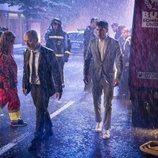 Alejo Sauras y Javier Gutiérrez, hundidos bajo la lluvia en 'Estoy vivo'