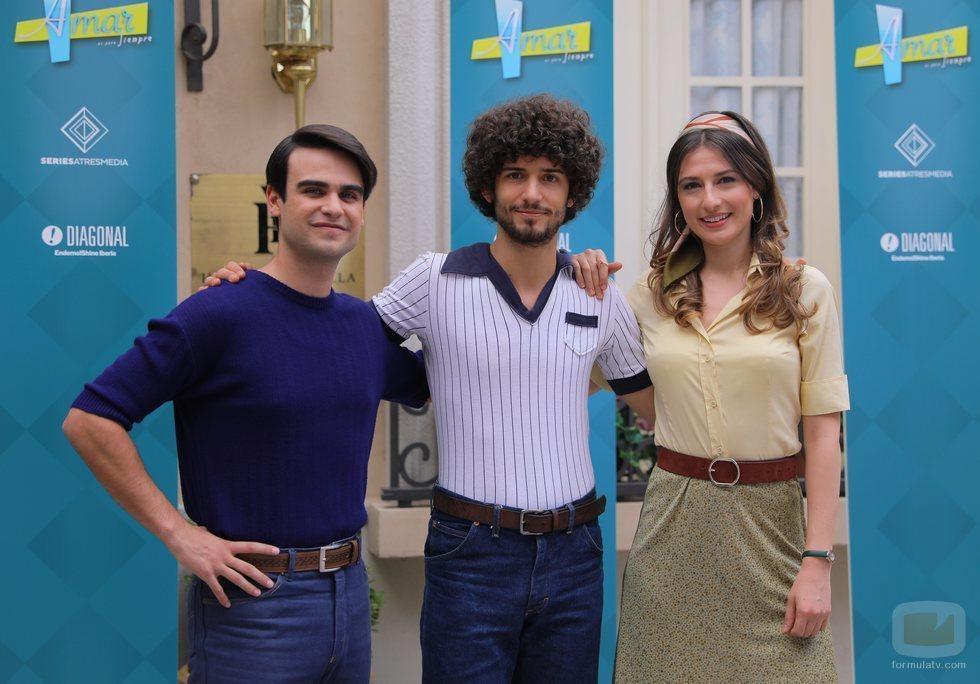 Raúl Ferrando, Juan de Vera y Alba Gutiérrez en 'Amar es para siempre'