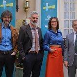 David Janer, Adrià Collado, Luz Valdenebro e Iñaki Miramón, en 'Amar es para siempre'