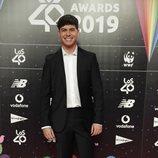 Alfred García en la cena de nominados de Los40 Music Awards 2019