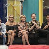 El Cejas, Alba Carrillo, Mila Ximénez, Maestro Joao y Gianmarco Onestini, en la Gala 4 de 'GH VIP 7'