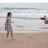Melani en Valencia durante el rodaje de su canción para Eurovisión Junior 2019