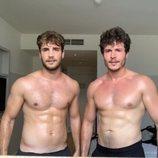 Joan Garrido y Miki Núñez lucen torso sin camiseta