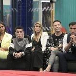 Noemí Salazar, el Cejas, Alba Carrillo, Maestro Joao y Gianmarco Onestini en la Gala 5 de 'GH VIP 7'
