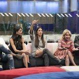 Kiko Jiménez, Estela Grande, Adara, Mila Ximénez y Dinio en la Gala 5 de 'GH VIP 7'