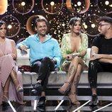 Anabel Pantoja, Hugo Castejón, Nuria Martínez y Moha en la Gala 5 de 'GH VIP 7'