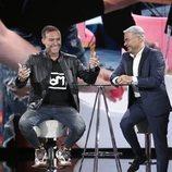 Dinio y Jorge Javier Vázque, riéndose en la Gala 5 de 'GH VIP 7'