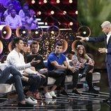 Jorge Javier Vázquez con los defensores en la Gala 5 de 'GH VIP 7'