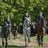 Sam Heughan y Caitriona Balfe en la quinta temporada de 'Outlander'