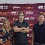 Toñi Prieto, Tinet Rubira y Nacho Gómez en el casting de Barcelona 'OT 2020'