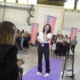 Una chica participa en el primer casting de 'OT 2020' en Barcelona