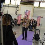 Uno de los aspirantes a 'OT 2020' prueba suerte en el primer casting de Barcelona