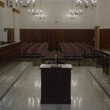 Sala del juzgado en 'Bajo escucha. El acusado'
