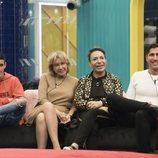 El Cejas, Mila Ximénez, Maestro Joao y Gianmarco Onestini, en la Gala 7 de 'GH VIP 7'