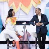 Irene Junquera y Jorge Javier Vázquez, en la Gala 7 de 'GH VIP 7'