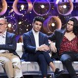 Kiko Jiménez, Manolo Ximénez y Luca Onestini, en la Gala 7 de 'GH VIP 7'