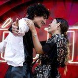 Jorge López y Danna Paola en la premier de la segunda temporada de 'Élite'
