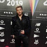 Blas Cantó en la cena de nominados de Los 40 Music Awards