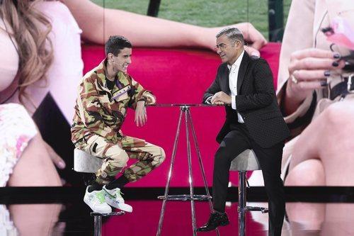El Cejas charla con Jorge Javier Vázquez tras su expulsión en la Gala 8 de 'GH VIP 7'