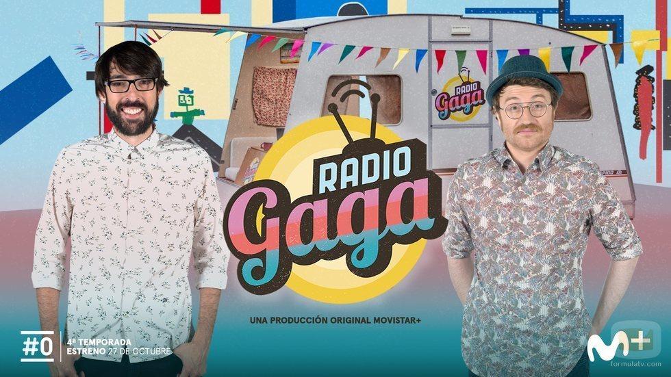 Póster de la cuarta temporada de 'Radio Gaga' con Manuel Burque y Quique Peinado