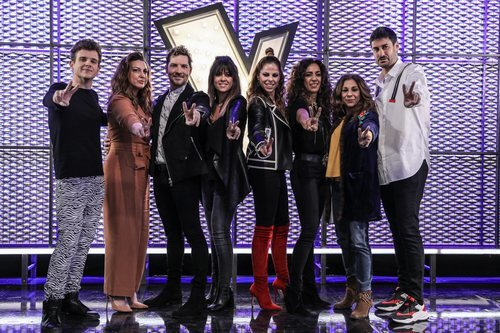 Los coaches y asesores de la primera edición de 'La Voz Kids' en Antena 3
