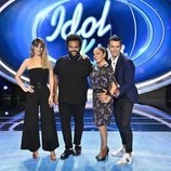Edurne, Carlos Jean, Isabel Pantoja posan junto a Jesús Vázquez en la rueda de prensa de 'Idol Kids'