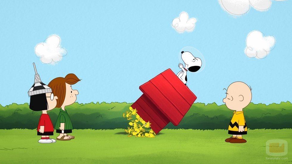 Escena de 'Snoopy in Space', serie de Apple TV+