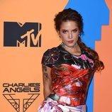 Halsey en la alfombra roja de los MTV EMAs 2019