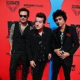 Green Day en la alfombra roja de los MTV EMAs 2019