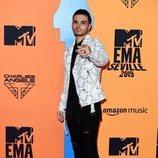 Abraham Mateo en la alfombra roja de los MTV EMAs 2019