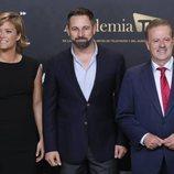 Santiago Abascal con María Casado y Manuel Campo Vidal en el 'Debate electoral 4-N'