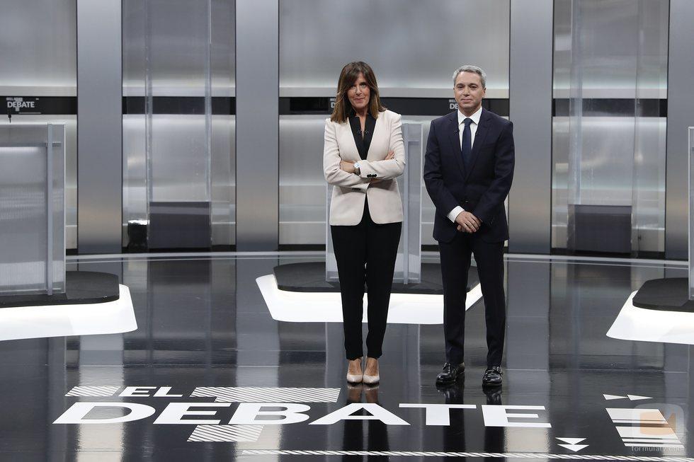Ana Blanco y Vicente Vallés, los moderadores de el 'Debate electoral 4-N'
