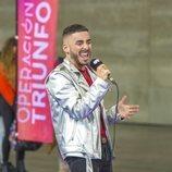 Un chico canta en el casting de 'OT 2020' en Madrid