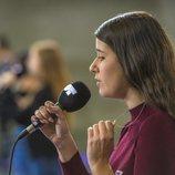 Una chica canta en las audiciones de 'OT 2020' en Madrid