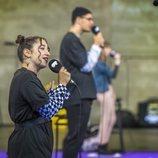 Una joven participa en el casting de 'OT 2020' en Madrid