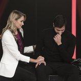 Alba Carrillo consuela a Gianmarco Onestini, en la Gala 10 de 'GH VIP7'