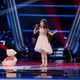 Melani García visita 'La Voz Kids' en Antena 3