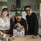 Eva Ugarte, Javier Ruiz Caldera y Berto Romero graban la tercera temporada de 'Mira lo que has hecho'