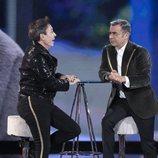 Jorge Javier Vázquez y el Maestro Joao, en la Gala 11 de 'GH VIP 7'