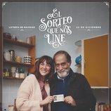 Póster del anuncio de la Lotería de Navidad 2019 con Pilar y Félix