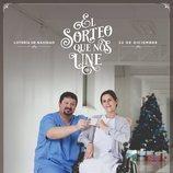 Póster del anuncio de la Lotería de Navidad 2019 con Carmen y Víctor