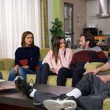 Lola, Fermín y Javi, muy sorprendidos en una escena de 'La que se avecina'