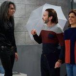 Mario Vaquerizo junto a Fernando Tejero y Macarena Gómez en 'La que se avecina'