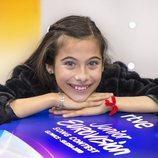 Melani sonríe antes de partir a Gliwice (Polonia), sede de Eurovisión Junior 2019