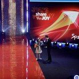 Melani con Mateusz Szymkowiak en la Opening Ceremony de Eurovisión Junior 2019