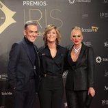 Kiko Hernández, María Casado y Belén Esteban en los Premios Iris 2019