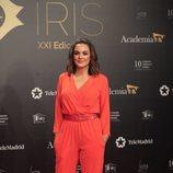 Mónica Carrillo posa en la alfombra roja de los Premios Iris 2019