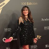 Una sonriente Candela Peña en los Premios Iris 2019